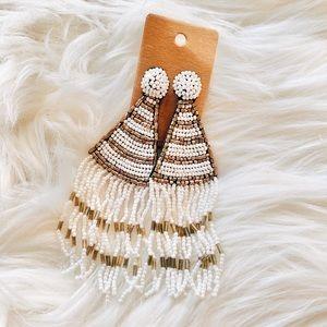 Bohemian Fringe Bead Tassel Earrings